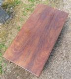 Long Walnut Queen Anne Style Coffee Table